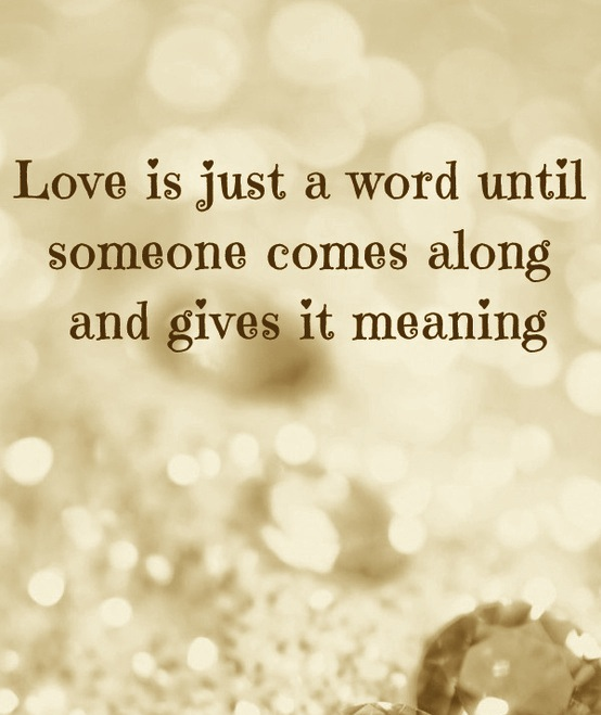 4. love is just a word
